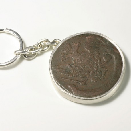 Keychain, 925 silver, antique coin