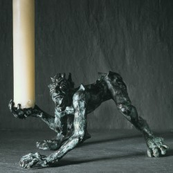Candle monster, bronze, walking