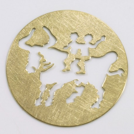 Plakette, 750- Gold