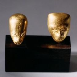 Mayan heads, 999 gold