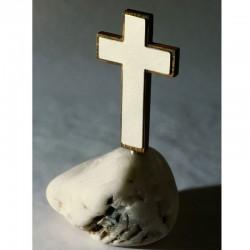 Kreuz, 925 Silber, Holz