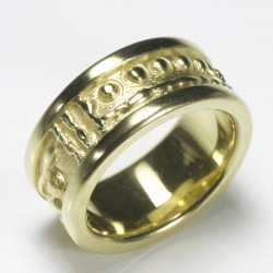 Mining ring, 925 silver gold-plated