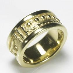 Zechenring, 925- Silber, goldplattiert