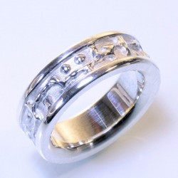 Mining ring, 925 silver, small