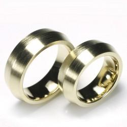 Wedding rings, 585 gold