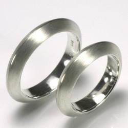 Triangular wedding rings, 925 silver