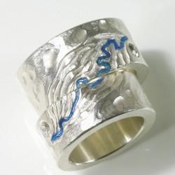Wolf König: Eheringe, 925- Silber, Turmaline