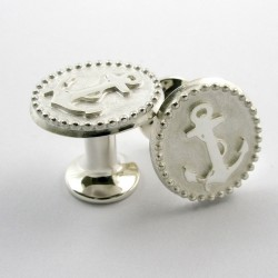 Cufflinks, Sailor, 925- silver