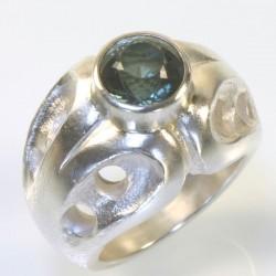 Ring, 925- Silber, Turmalin