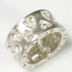 Ring, 925- Silber, 750- Gold, Rubin