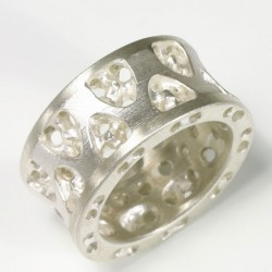 Ring, 925 silver, Gothic double concave