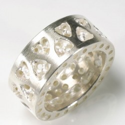 Ring, 925 silver, gothic double