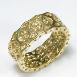 Ring, 750 gold, lace