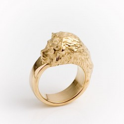Löwenring, 750- Gold