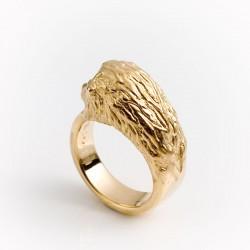 Lion ring, 750 gold
