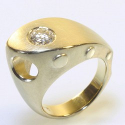 Ship ring, 750 gold, diamond