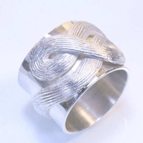 Knot ring, 925 silver