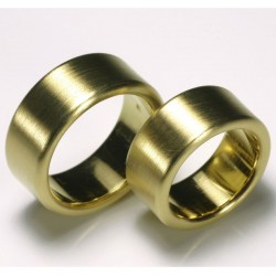 Solid wedding rings, 900 gold