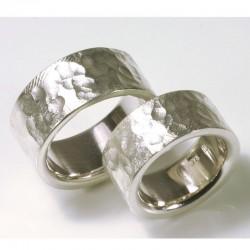 Trauringe, 925- Silber, gebirgig