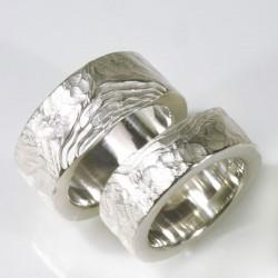 Wedding rings, 925 silver, terraces