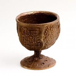 Kelch, Bronze, Amethyste