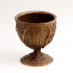 Chalice, bronze, amethysts