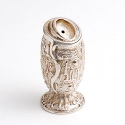 Pepper and salt shakers, 925 silver and bronze