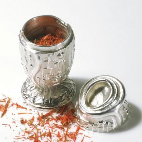 Pfeffer- und Salzstreuer, Sumoringer, 925- Silber, Kupfer