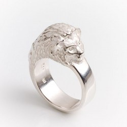 Lion ring, 925 silver