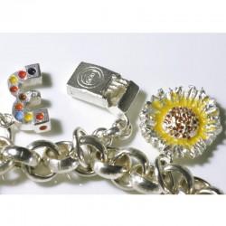 Charm bracelet basic chain for charm pendant, 925 silver