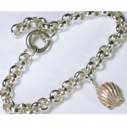 Charm bracelet basic chain for charm pendant, 925 silver