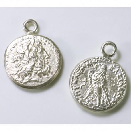 Charm pendant Roman coin, 925- silver