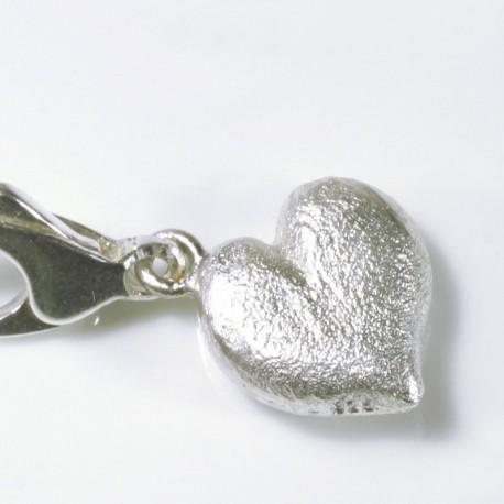 Charm pendant heart, 925- silver