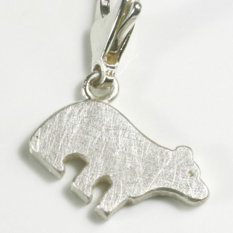 Charm pendant polar bear, 925- silver