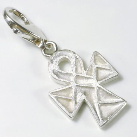 Charm Anhänger koptisches Kreuz, 925- Silber