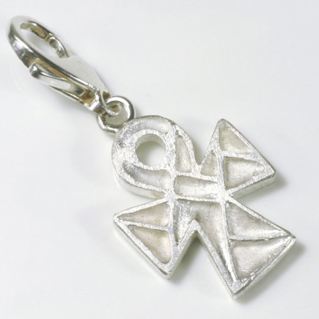 Charm pendant Coptic cross, 925- silver