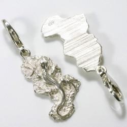 Charm pendant lizard, 925- silver