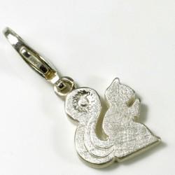 Charm Anhänger Muschel, grüner Brillant, 750- Gold