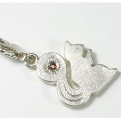 Charm pendant squirrel large, 925- silver