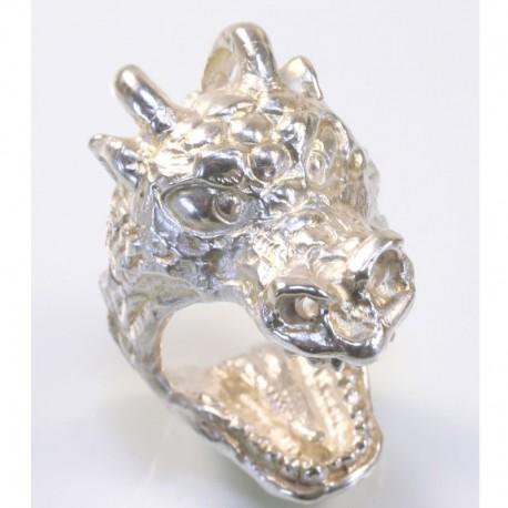 Dragon ring, 925 silver
