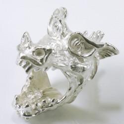 Large dragon ring, 925 silver
