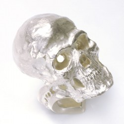 Large skull ring, 925 silver, with / without gemstones