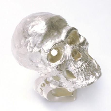 Großer Totenkopfring, 925- Silber, mit/ohne Edelsteine