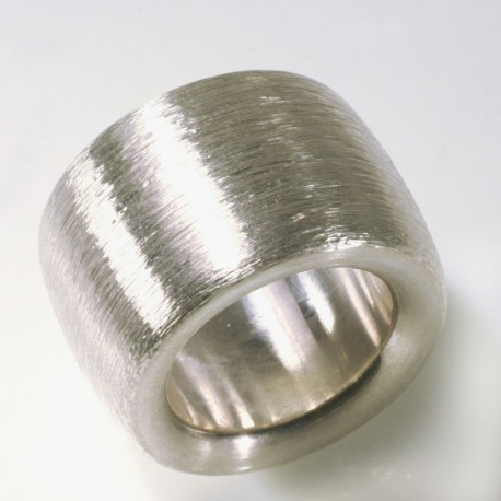 Wide, domed ring, 925 silver