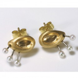 Ohrstecker, 750- Gold, Perlen