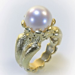 Ring, 750 gold, South Sea pearl