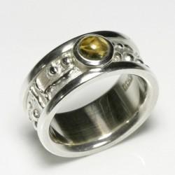 Zechenring, 925- Silber, Citrin