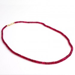 Necklace, red spinel, 750- gold