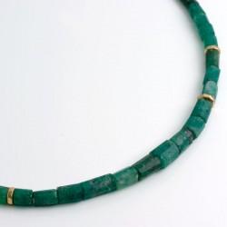 Necklace, Tsavolite crystals, 750 gold