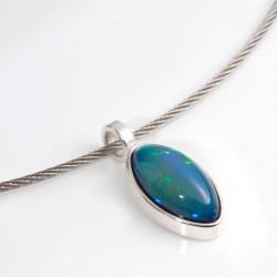Anhänger, 925- Silber, Opal